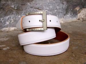 cuir ceinture triplée costume surpiquée