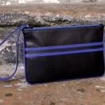 pochette de soirée ls artisan maroquinier cuir couleur croix rousse made in france lyon bleu noir